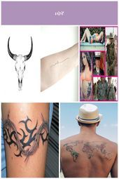 Skull tattoo  Art  country tattoo for men  watercolorpainting