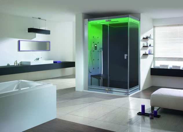 Dampfbad - Duschkabine SenseSation mit grün LED Badezimmer - badezimmer design badgestaltung
