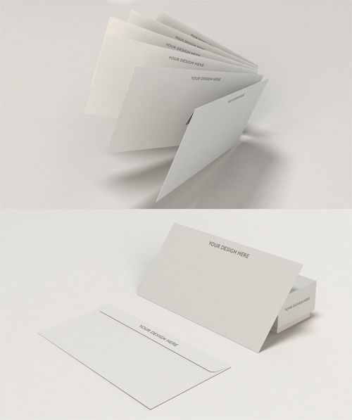 Envelope Mock Up Templates Psd  Free Special Gfx Posts Vectors