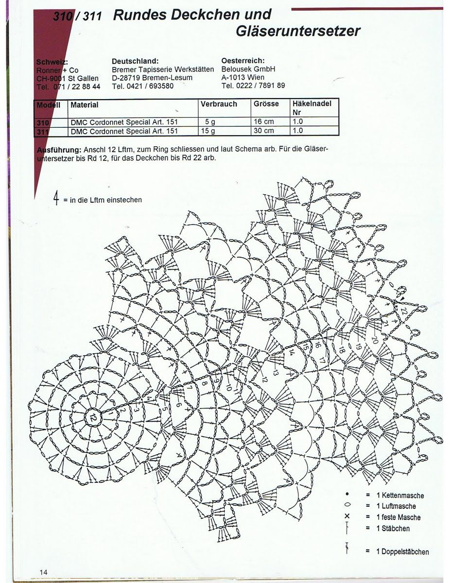 Doily Diagram - No Linked Pattern  Just The Image