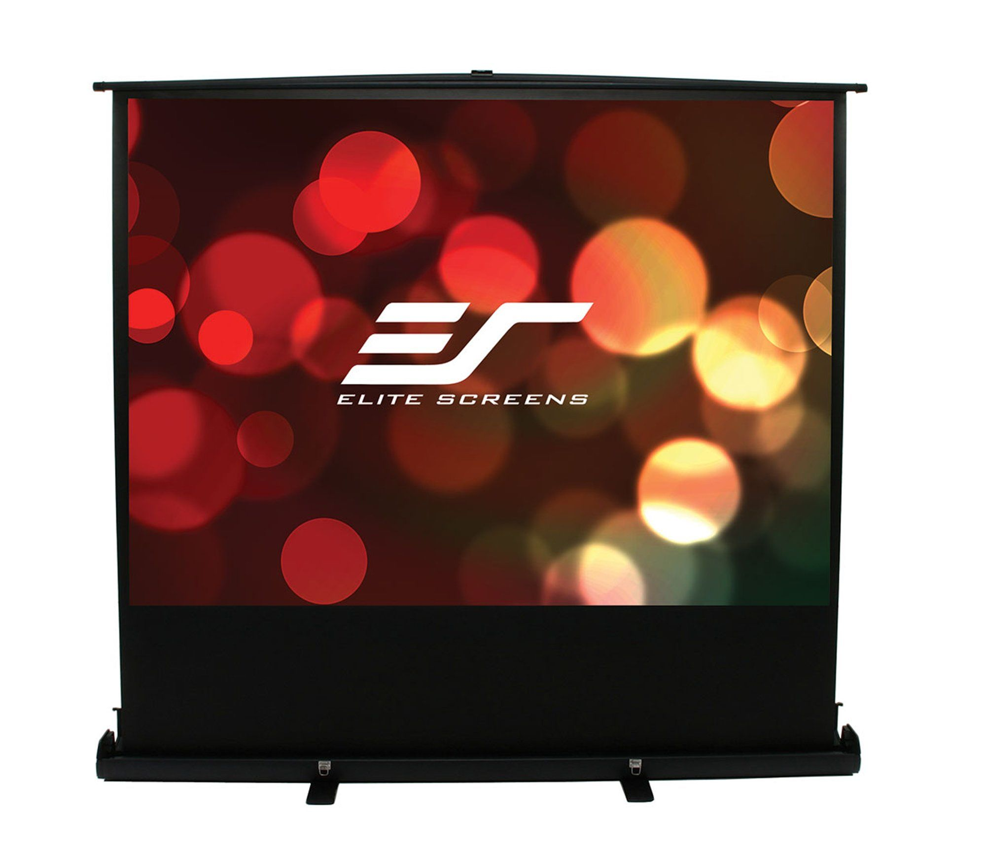 Elite Screens Ezcinema Plus Series 100 Inch Diagonal 16 9 Floor Pull Up Portable Projection Screen Model F100xwh1 Projection Screen Outdoor Screens Outdoor Movie Screen