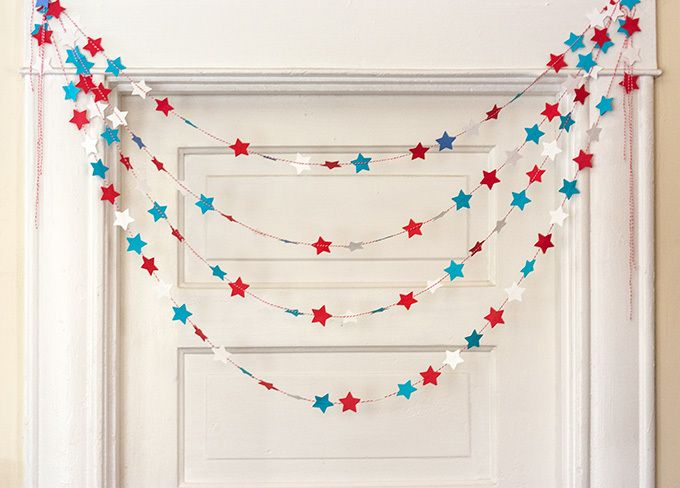 Get in the holiday spirit with this cute DIY patriotic garland. Our blog has the how-to: