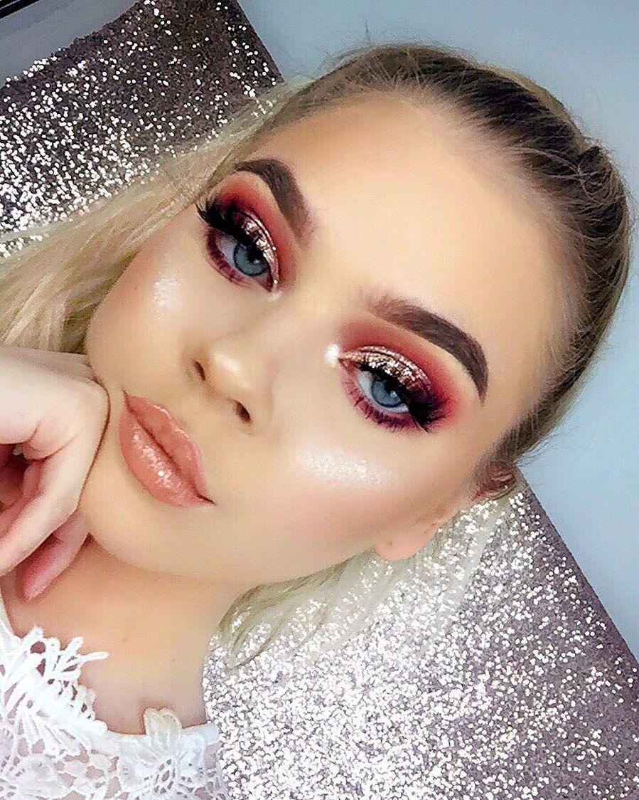Rose Makeup Brushes: Rose Gold Babe@stilacosmetics Magnificent Metals Glitter