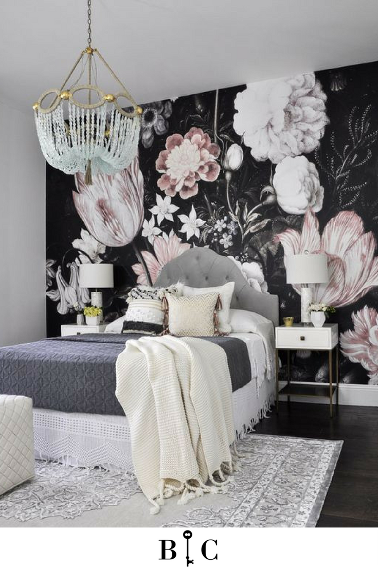 Love This Floral Wallpaper Would You Add Such A Bold Accent Wall To