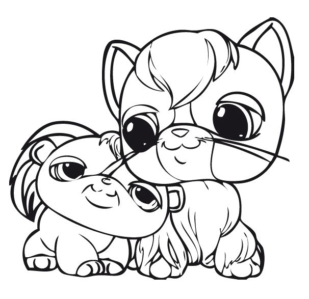 Cute dog littlest pet shop coloring pages