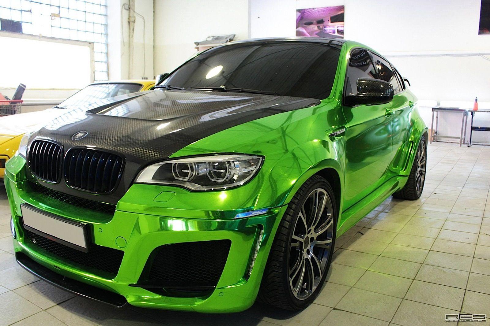 Bmw X6m Chrome Green Hulk Style 2 Dream Cars Wish List