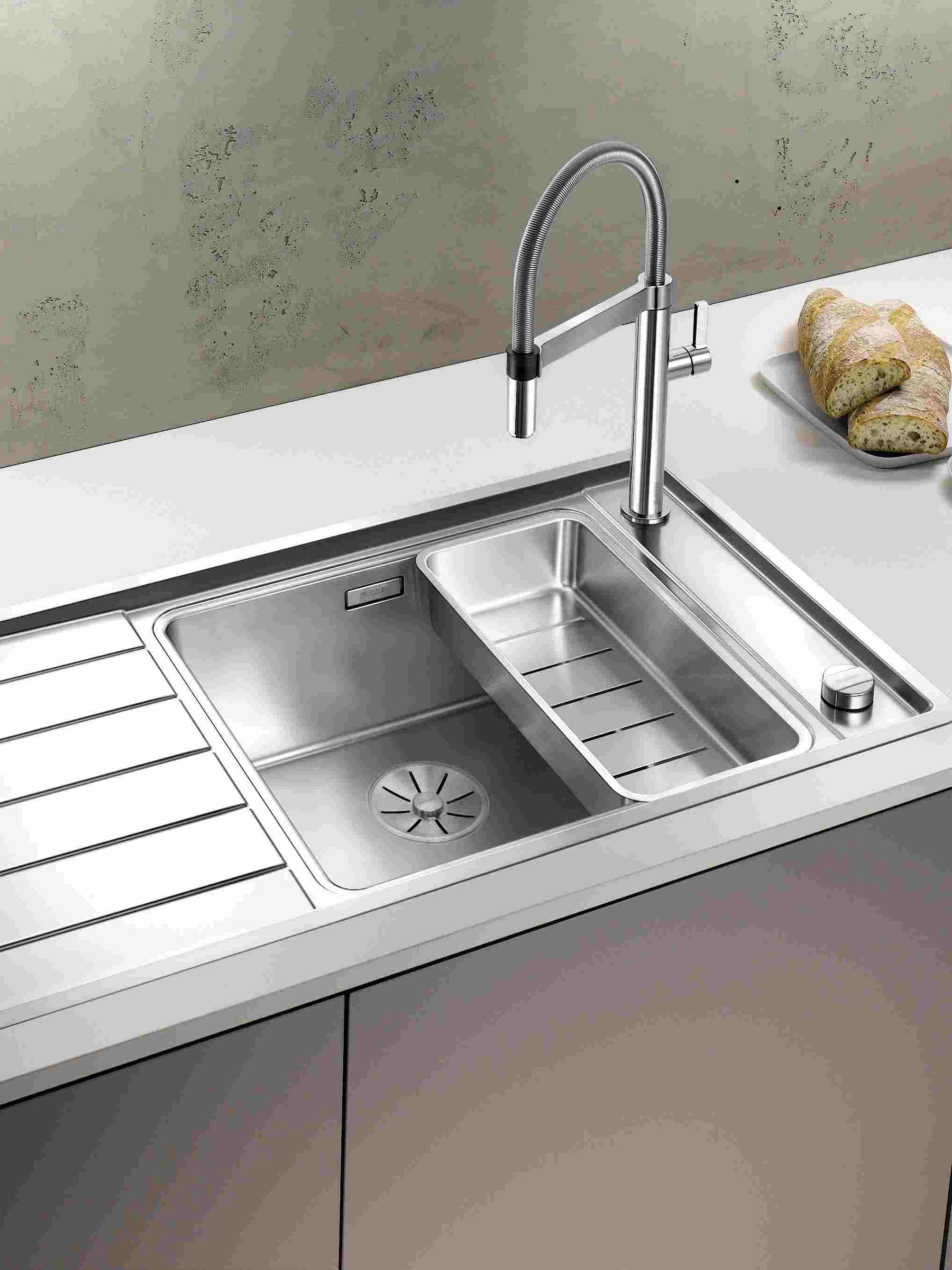 Blanco Andano Xl 6 S If Inset 1 5 Kitchen Sink With Right Hand Bowl Sink Inset Sink Kitchen Interior