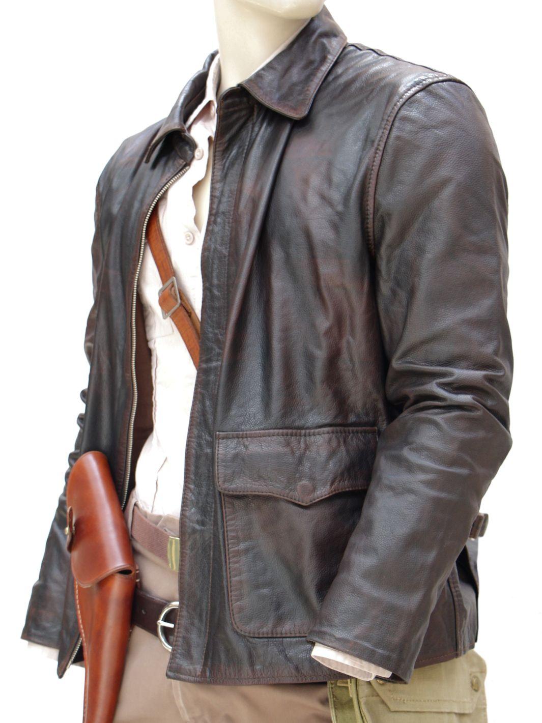 Indiana Jones LOST ARK Dark Brown Genuine Leather Riders Bilker Jacket