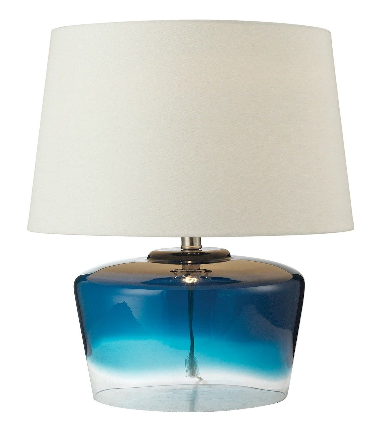 Nice Belize Blue Glass Table Lamp