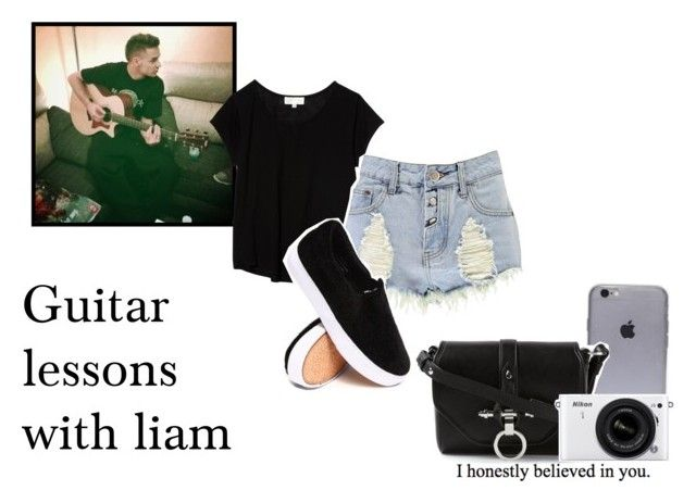 Guitar lessons with liam. by alejandra-28lh on Polyvore featuring polyvore, fashion, style, The Lady & The Sailor, Boohoo, Givenchy, Nikon, Payne and LiamPayne