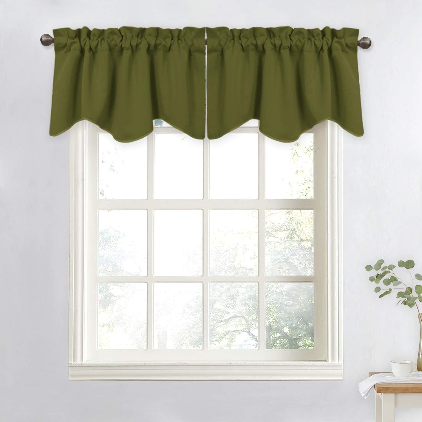 Rustic Cream Olive Green Pink Leaf Plaid Insulated Curtains Custom Drapes Curtains Insulated Curtains