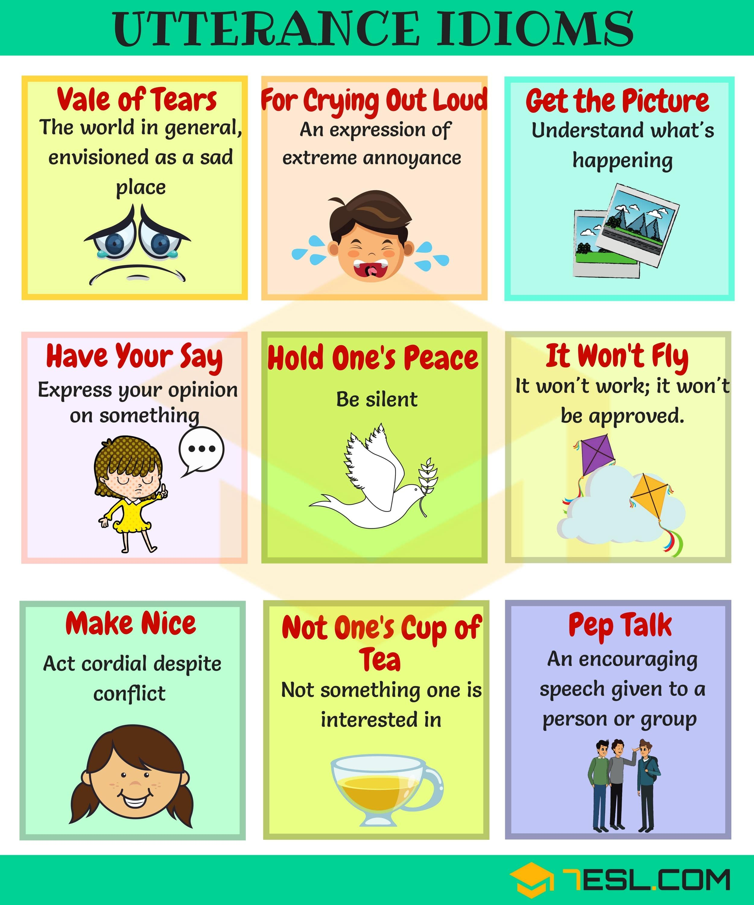 90 Common Short Sayings And Idioms In English