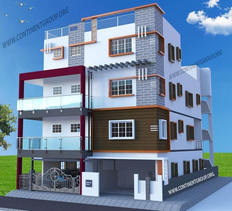 Home Design Ideas Bangalore: Building-front-elevation-3d-bangalore-unique In 2019