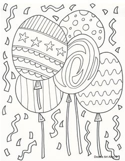 Birthday Balloons Coloring Page Birthday Coloring Pages