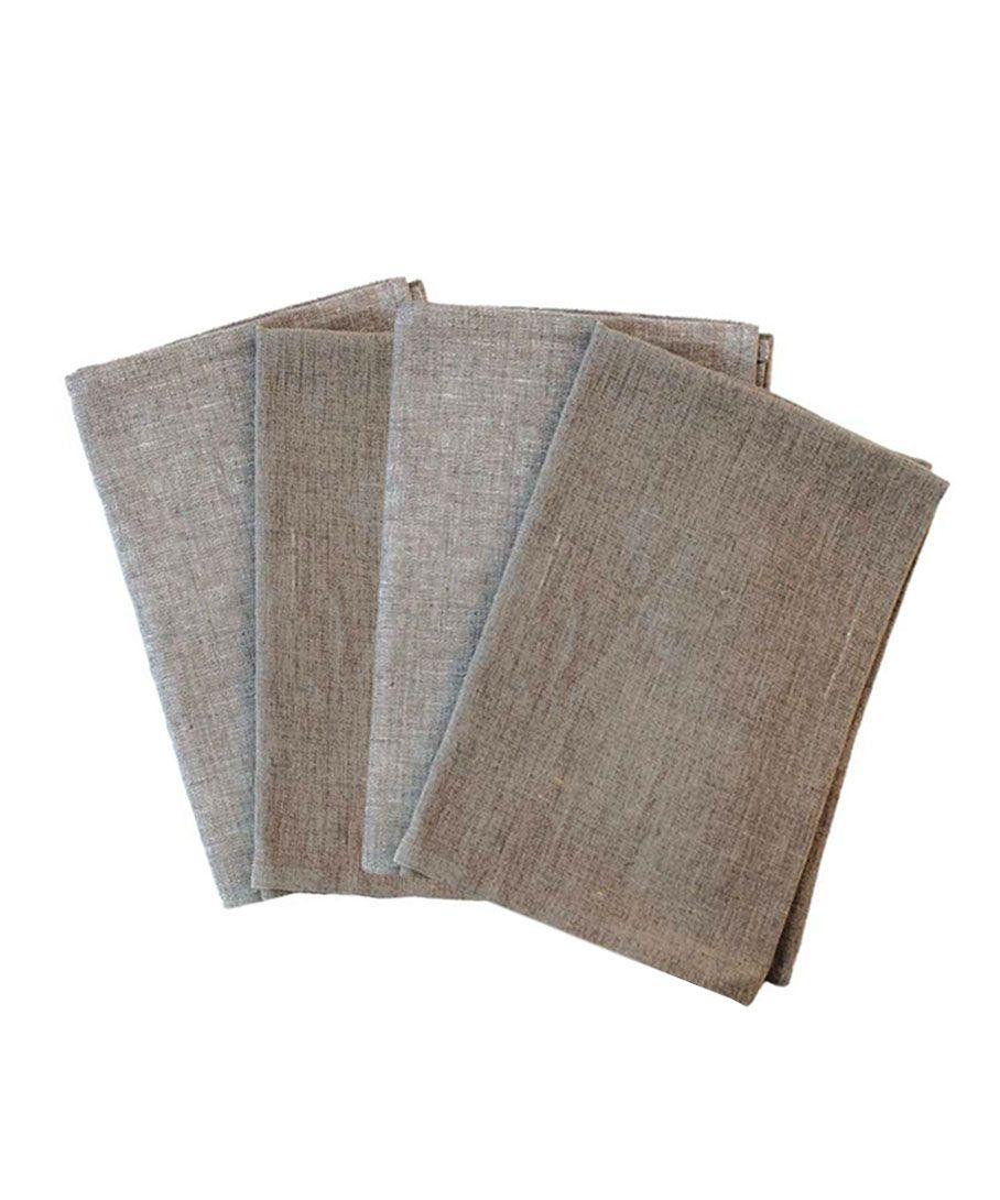 Taupe Linen Hand Towels | Dotandbo.com