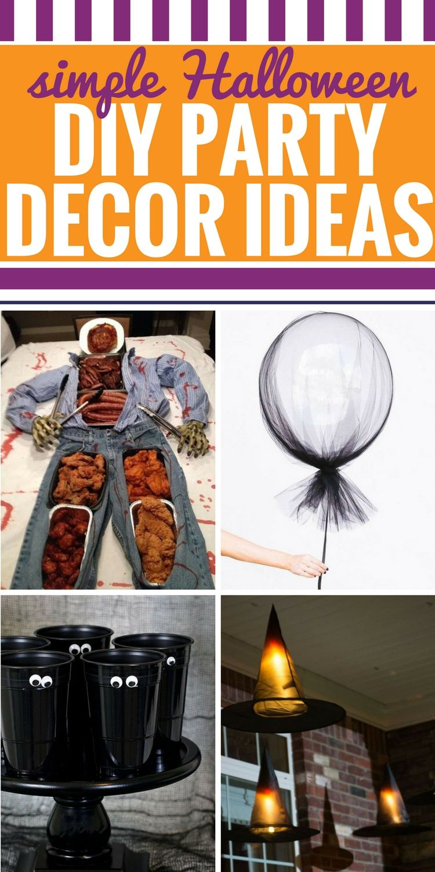 DIY Halloween Party Decor Ideas Halloween party decor