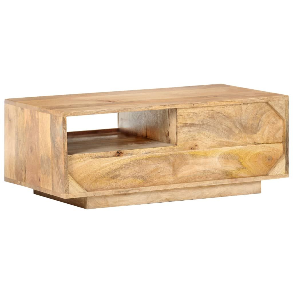 ZNTS Coffee Table 35.4″x19.7″x13.8″ Solid Mango Wood 320467