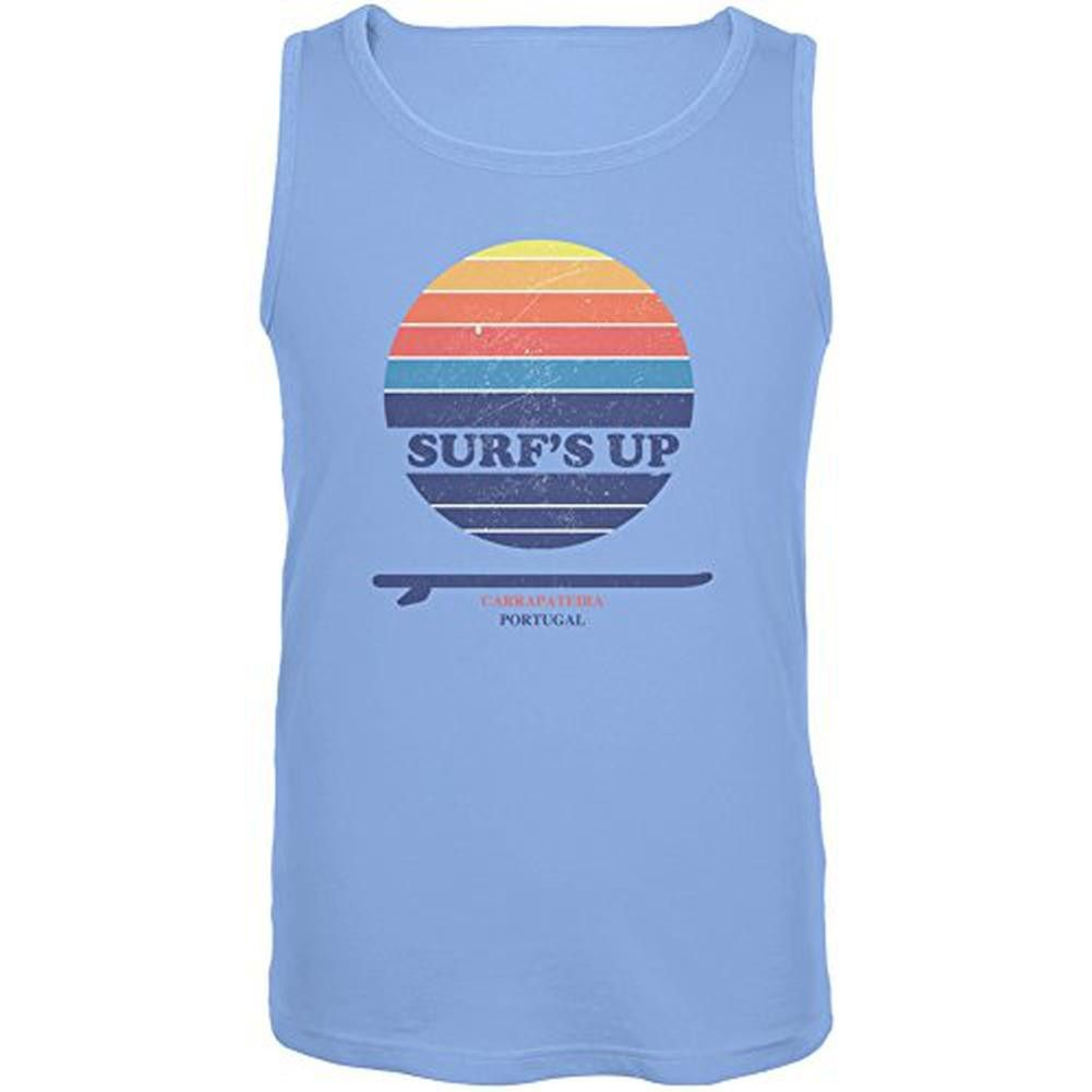 Surf's Up Carrapateira Portugal Carolina Blue Adult Tank Top