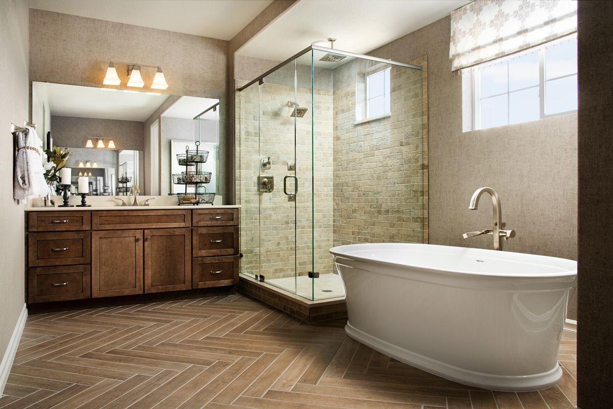 Luxurious Soaking Tub And Glass Enclosed Shower Dayton Model Home Master Bath Broomfield Co Richm Bathtub Tile Richmond American Homes Amazing Bathrooms