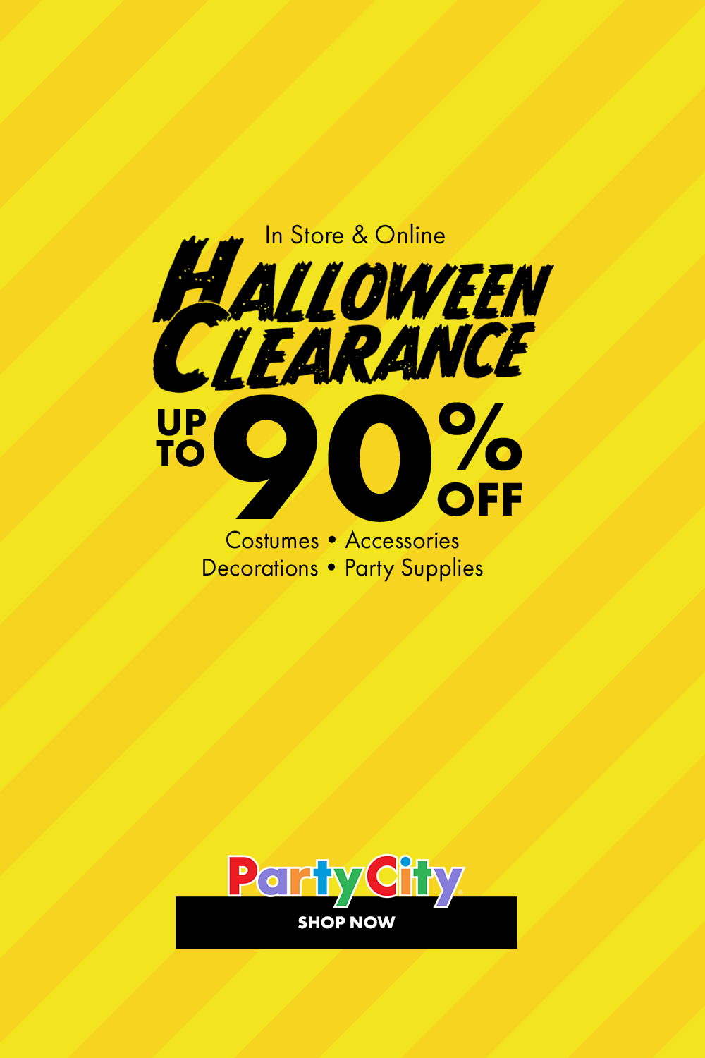 Get The Most Boo For Your Buck Shop Party City S Halloween Clearance Event For Costumes Accessories Decorations Party Supplies Diy Halloween Window Decorations Halloween Coloring Sheets Halloween Clearance