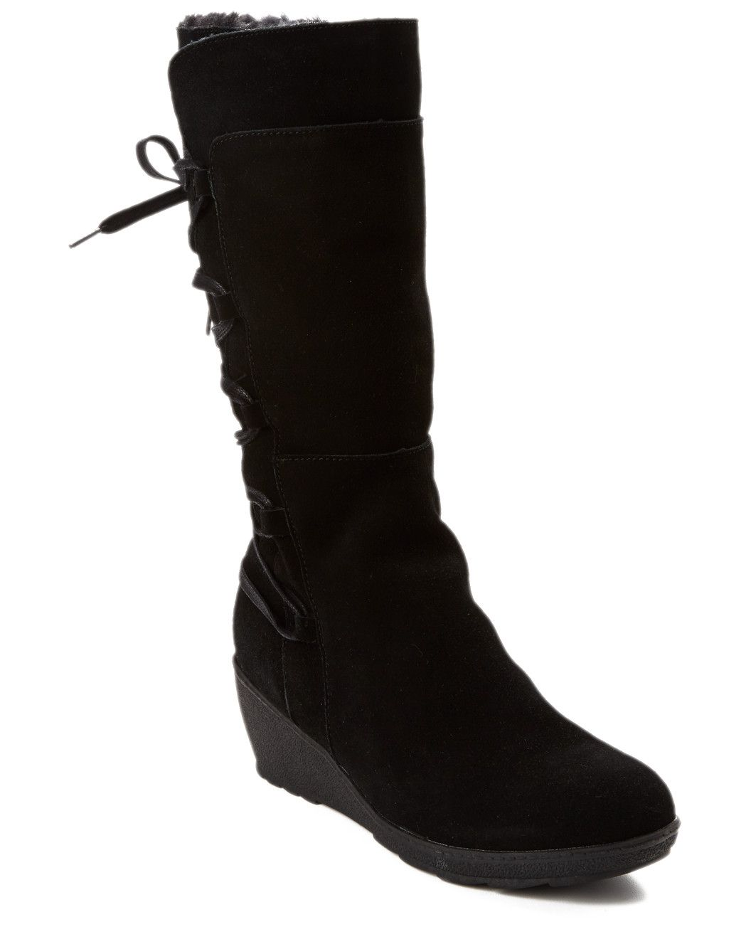 "Spotted this Santana Canada ""Helena"" Suede Wedge Boot on Rue La La. Shop (quickly!)."