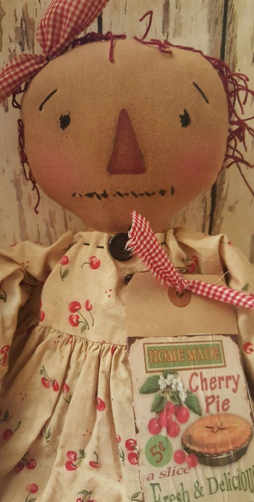 Primitive Raggedy Ann Annie Doll  *~Cherries~*  #RaggedyAnnie