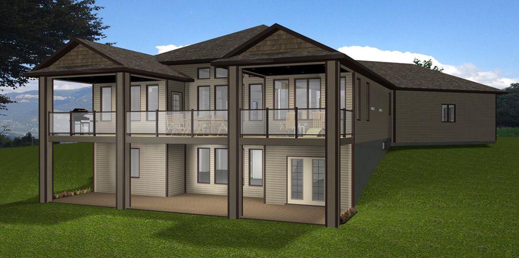 Https Www Edesignsplans Ca Walkout Basement Garage On 1st Floor Bungalow House Plans Basement House Plans Country House Plans