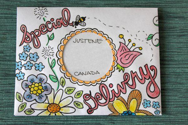 mail art Present ideas Pinterest Decorated envelopes - new letter envelope address format canada
