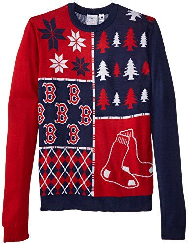 quality design aa823 cf9cb Boston Red Sox Busy Block Ugly Sweater - FOCO MLB Busy Block ...