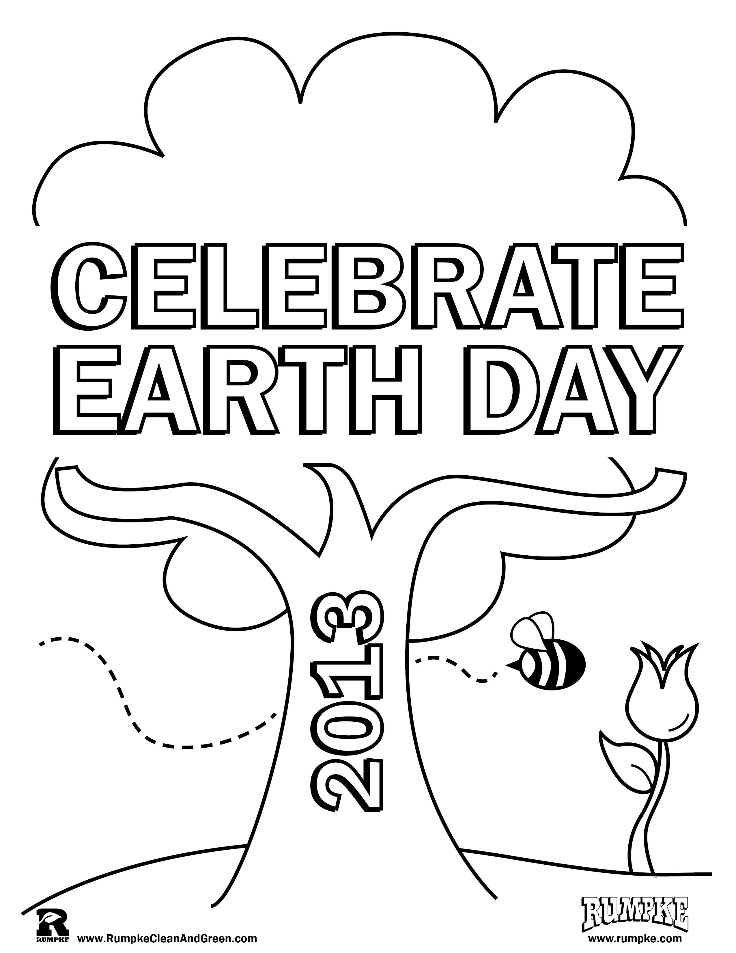 Celebrate Earth Day Free Printable Coloring Sheet