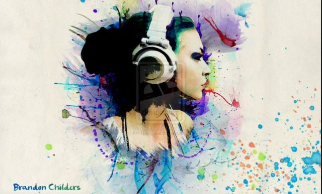 Water Colour Head Phones