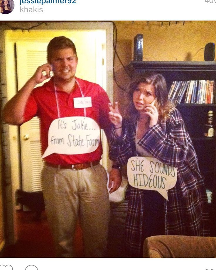 What Re You Wearing Jake From State Farm State Farm Halloween Costume Punny Halloween Costumes Funny Couple Halloween Costumes Halloween Costume Puns