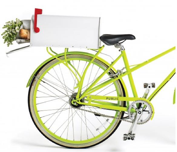 this diy mailbox bike basket is so genius