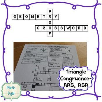 Triangle Congruence Aas And Iju83 Asa Geometrkgbhy Proofs Mcrossword Puzzle 1 Geometry Proofs Teaching Math Geometry
