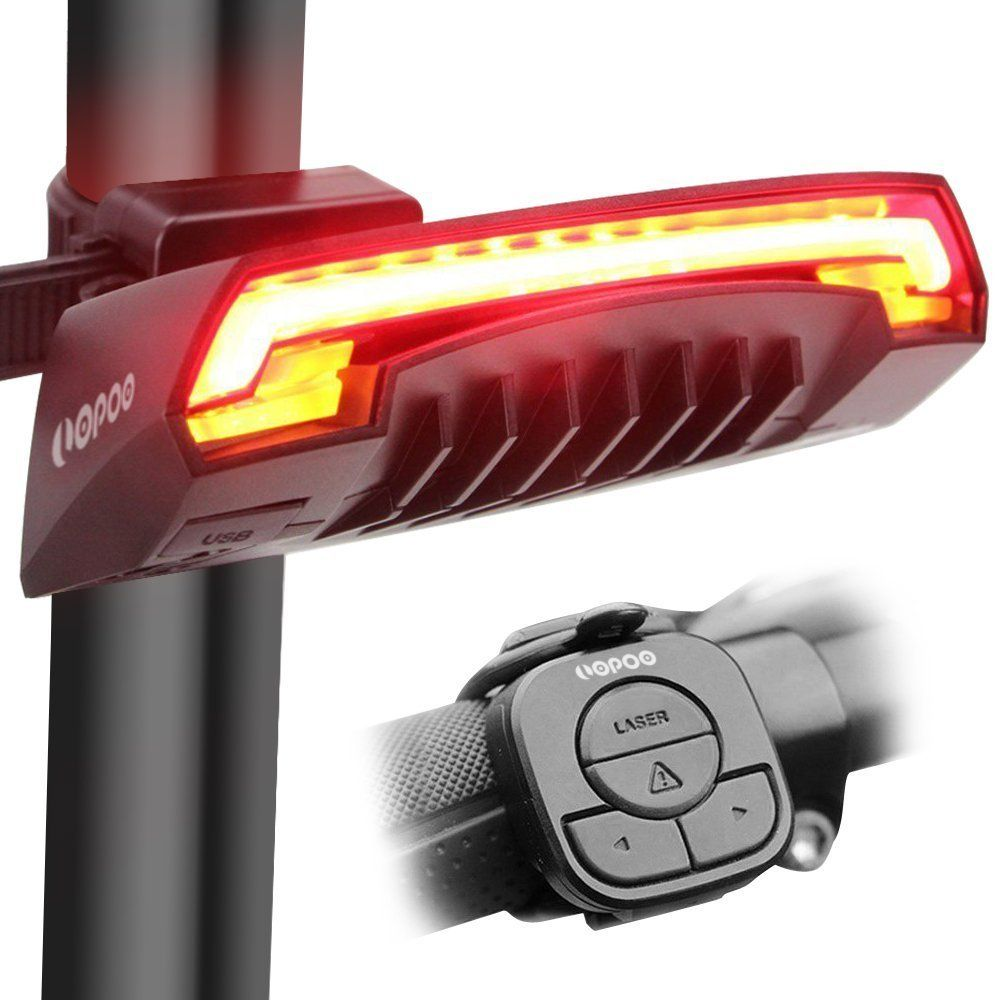 LOPOO X5 Smart Bike Tail Light, USB Rechargeable Bicycle Rear Light
