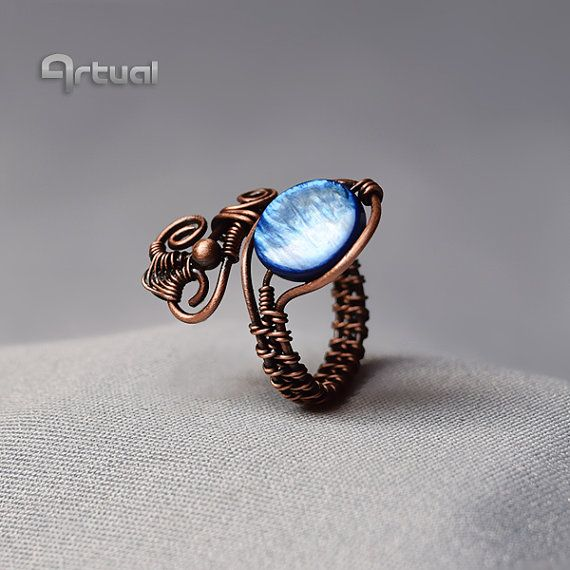 Wire ring adjustable ring wire jewelry copper ring gift | Networking ...