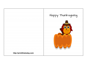 Free Printable Thanksgiving Card Featuring Cute Owl Pinned By Www Myowlbarn Com Thanksgiving Cards Printable Thanksgiving Cards Free Thanksgiving Printables