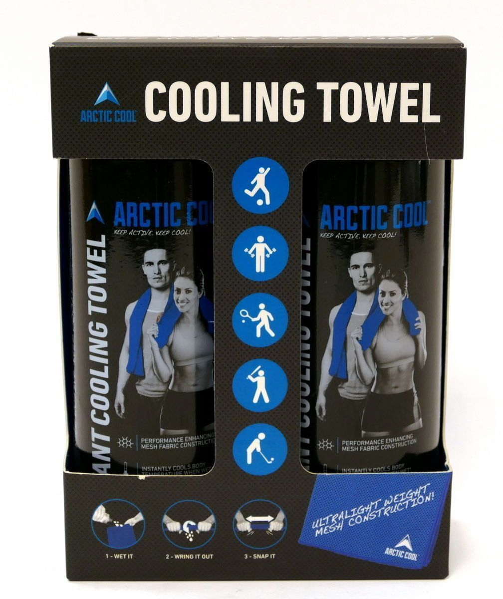 ARCTIC COOL 2 Pack Towels Arctic Cool Ultra Leightweight Workout Blue Mesh