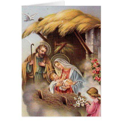 B St Nativity Greeting Cards