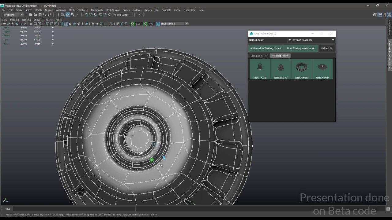 MESH BLEND Tutorial #01 : kitbash modeling tool for Maya