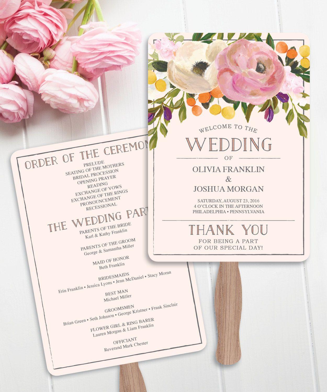 How To Make A Wedding Fan Program