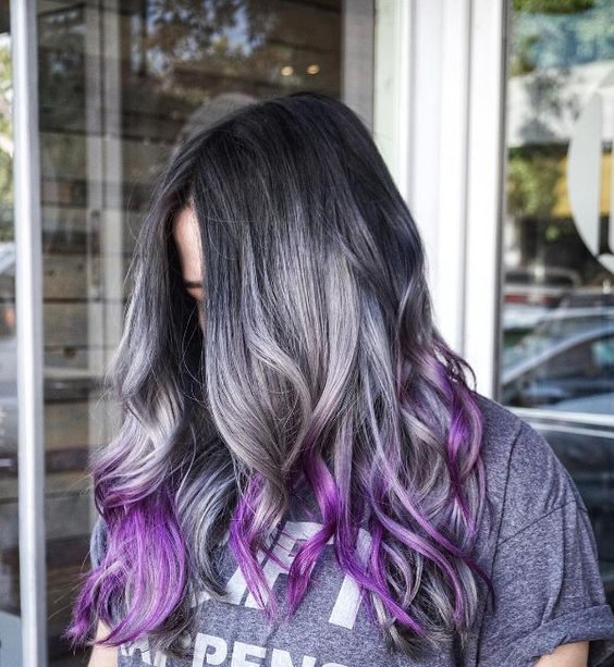 25 Cool Black And Grey Hair Color Ideas Trendy Now August 2019