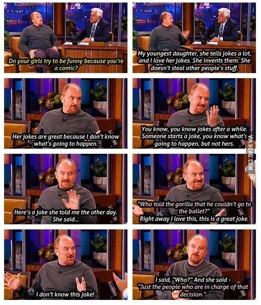 Louis ck. If I had a little less hair I would agree that I look like him. His humor is so true to my life.