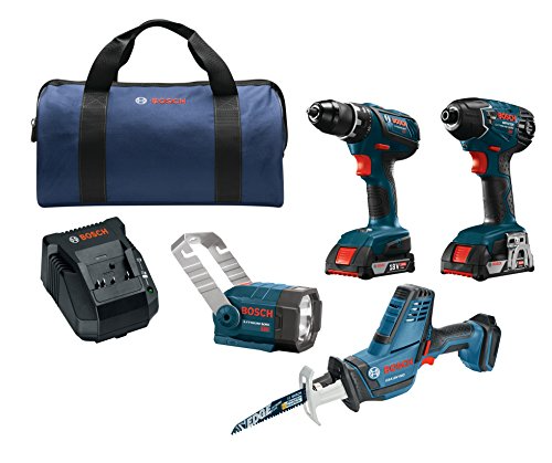 Bosch Power Tools Drill Set 18v 4 Tool Combo Kit With 1 2 In Drill Driver Sale Backyardequip Com Drill Set Combo Kit Drill Driver