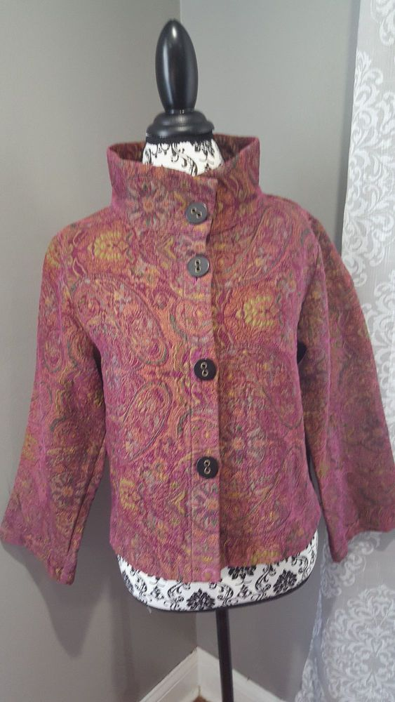 Habitat Clothes To Live In Tapestry Paisley Brocade Jacket Swing