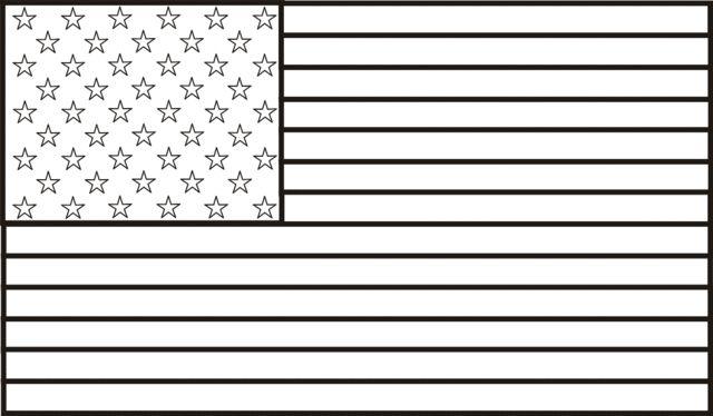 Flag Coloring Sheet
