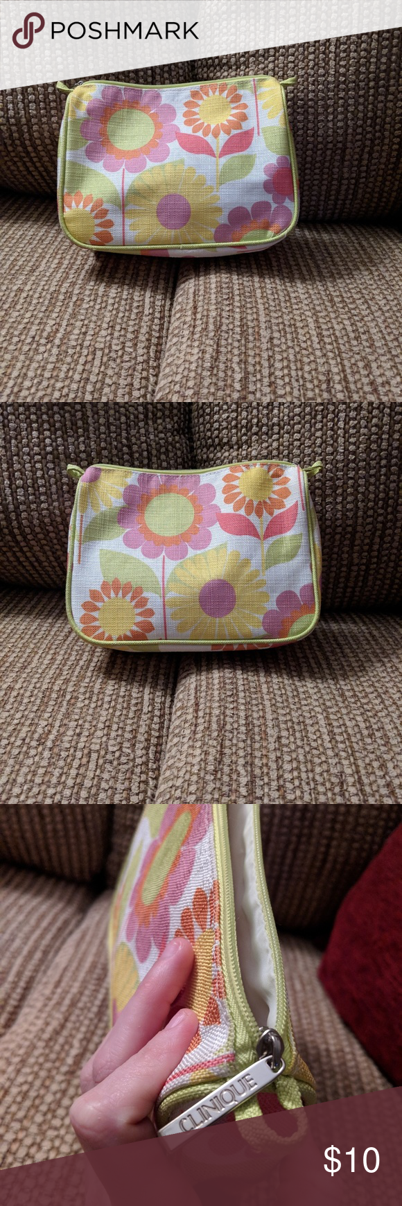 FREE w/ purchase. New Clinique cosmetic makeup bag FREE