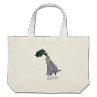 Ms Monet with Umbrella Canvas Bag