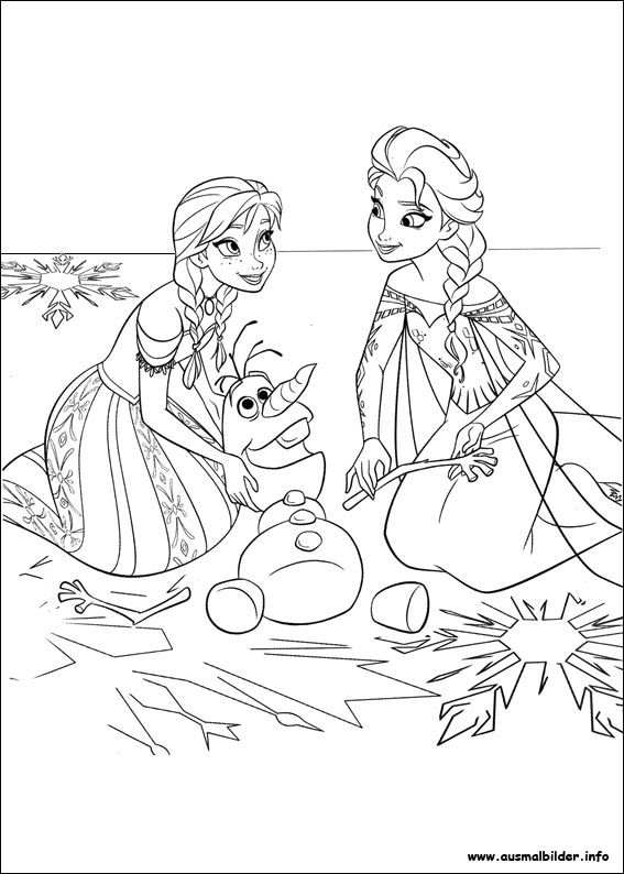 Die Eiskonigin Vollig Unverfroren Malvorlagen Frozen Coloring Pages Frozen Coloring Coloring Books