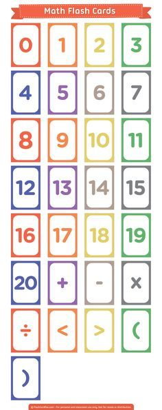 Create Your Own Math Problems With These Free Printable Math Flash